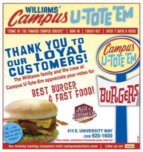 Campus U-Tote-Em – Home of the Campus Burger